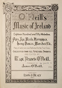Title page of O'Neill's Music of Ireland.