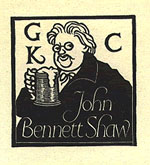 Bookplate from John Bennett Shaw's G. K. Chesterton Collection.