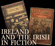 Graphic for Ireland and the Irish in Fiction exhibit.