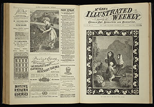Sample image of an opening form McGee's Illustrated Weekly. This issue is not the issue on display.